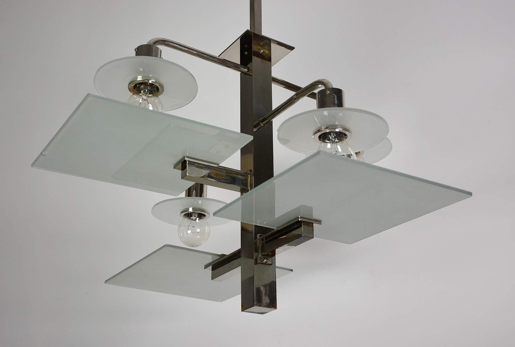 paar bauhaus art deco funktionalismus deckenlampen bakelit. Black Bedroom Furniture Sets. Home Design Ideas