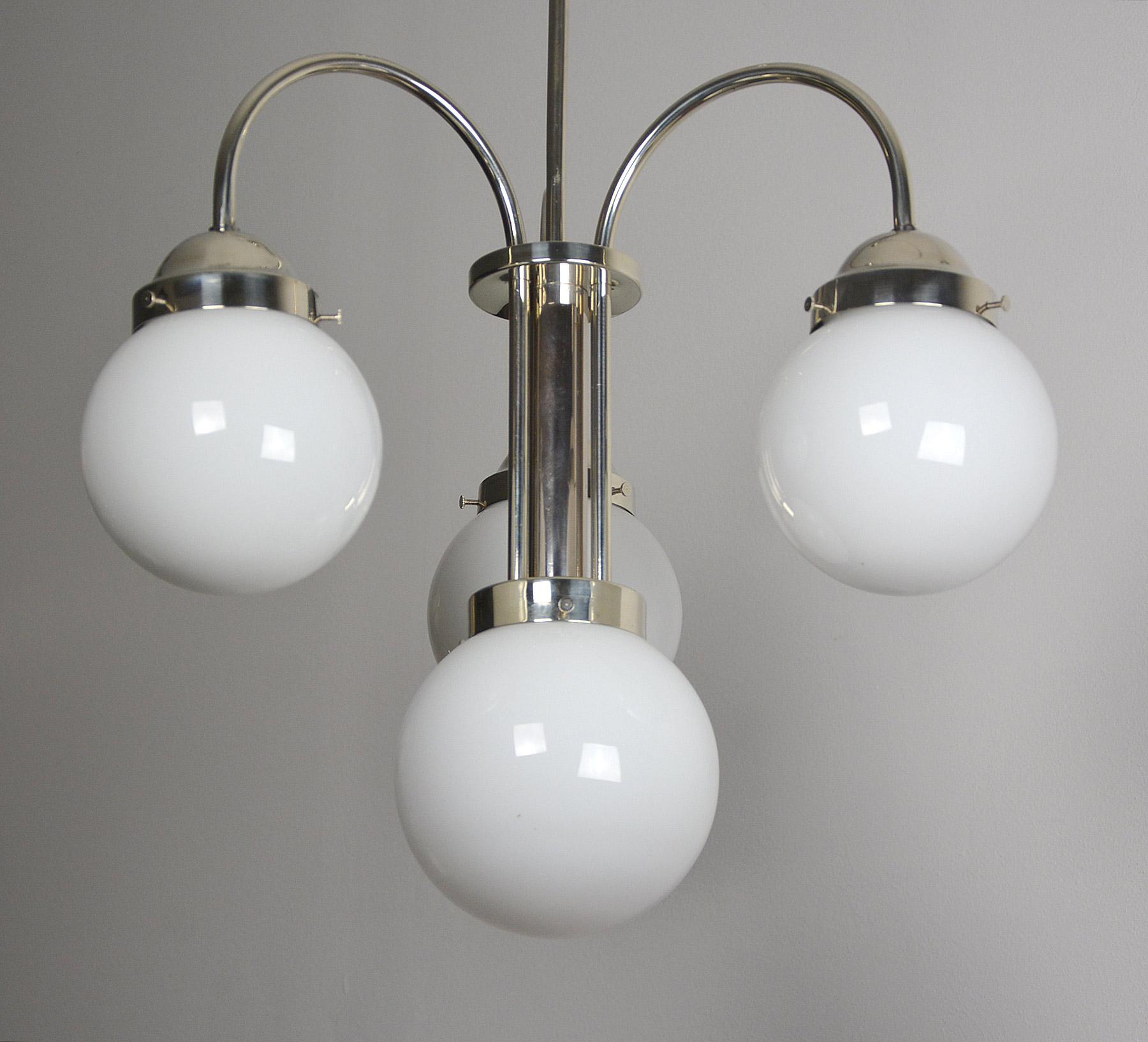 bauhaus art deco deckenlampe nickel ebay. Black Bedroom Furniture Sets. Home Design Ideas